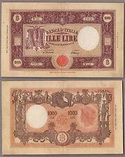 BANCONOTA Italia Lire 1.000 Grande M Repubblica Italiana Dec Min 22-07-1946