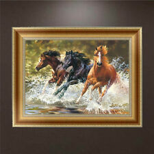Horses DIY 5D Diamond Embroidery Animal Painting Cross Stitch Craft Home Decor