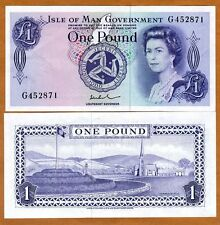 1983 issue 1 pound 2009 sig ND Isle of Man AA-Pref QEII UNC 40c P-40