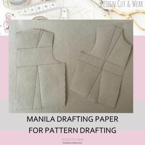 MANILA DRAFTING PAPER - IDEAL FOR PATTERN DRAFTING - 90 GSM - DURABLE PATTERNS