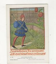 Lover Attains The Rose Roman De La Rose British Museum Plain Back Card 587a