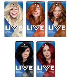 Schwarzkopf Permanent Intense Gel Color LIVE Red Black Cinnamon Blond Hair