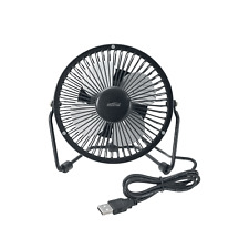 Mistral 10cm USB Mini Desk Fan 5v USB Metal Black Fan Quiet fan Tilting head Adj