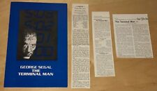 The Terminal Man 1974 Movie Program George Segal Film & Newspaper Clipping Lot
