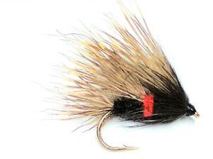 SEDGEHOG BIBIO WET TROUT FISHING FLIES - SIZE 10