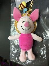 Disney Winnie The Pooh Piglet Stuffed Toy Key Chain ( Straw Hat )
