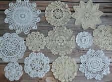 12 Crochet Doilies Lot French Country Wedding Table Runners Party Coasters
