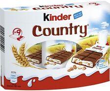 (100g=1,18€) Ferrero Kinder Country Schokoriegel Schokolade - 9 Riegel - 211,5g