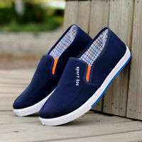 Men's Canvas Casual Slip On Plimsolls Boat Loafers Skate Pumps Shoes Flat ; #