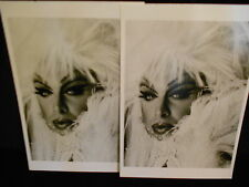 2 photograph postcards Divine, Los Angeles, 1987