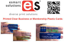 1000 x Clear Business or Membership Plastic Cards