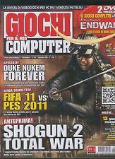 GIOCHI per il mio COMPUTER 174 shogun 2 total war-fifa vs pes-duke nukem forever