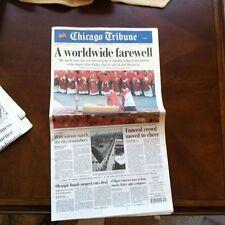 Chicago Tribune Newspaper Pope John Paul II Benedict XVI April 25 2005 4/25/2005