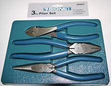 Signet  S90903  3 piece plier set, combination / long nose & cutters pro-use
