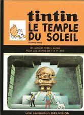 PASTICHE TINTIN. Le Temple du Soleil. Version bd du dessin animé Belvision