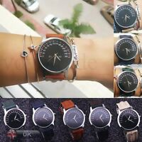 New Womens Watch Stainless Steel Leather Band Analog Quartz Luxury Wrist Watches