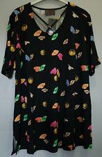 Shirt schwarz bunt Gr.58 Marke Sempre Piu by Chalou Viskose