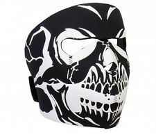 BLACK Skull Full Face Mask Motorcycle Paintball Airsoft Snowboard Puff Ski Biker