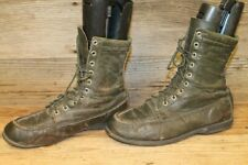 BROWNING VTG MENS GREEN LEATHER MOC TOE HUNTING/TRAIL BOOTS SZ 8.5 C