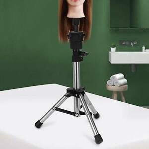 Hairdressing Training Wig Head Holder Adjustable Mannequin Tripod Stand
