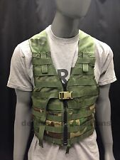 US Military Woodland Camo Fighting Load Carrier FLC Tactical Vest MOLLE II GC