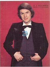 SALVATORE ADAMO CARTON D'INVITATION A L'OLYMPIA 19 AVRIL 1977 (vierge)