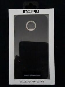 New INCIPIO Dual Layer Black Case Cover Motorola Moto Z2 Force Edition