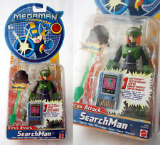 RARE 2004 MEGAMAN NT WARRIOR SEARCHMAN + CP7 BATTLECHIP MATTEL NEW MOSC !