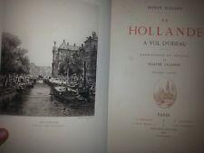 """RARE LIVRE ANCIEN 1882 LA HOLLANDE GRAVURES EAUX FORTES PRINT ENGRAVING XIXèm"""""""
