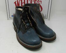 """Whites Boots, 2332, Black Chromx/ Blue bull, 8.5 D, 5.5"""", Composition Sole."""