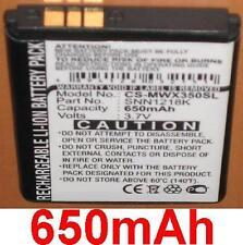 Batterie 650mAh type SNN1218K Pour Motorola WX395