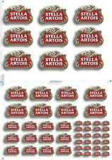 Stella Artois model or RC decal transfer Stickers A4 Sheet / A5 sheet options
