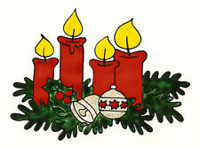 Window Color Fensterbild: Adventskranz-Weihnachten-Fensterdeko-Advent