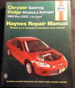 1995-2002 HAYNES CHRYSLER SEBRING DODGE STRATUS  SERVICE MANUAL 25040 (208)