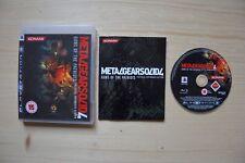 Ps3-Metal Gear Solid 4: Guns of the Patriots - (OVP, con instrucciones)