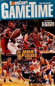 RARE VTG 1998 Utah Jazz NBA Finals Gametime Program Chicago Bulls Jordan Malone