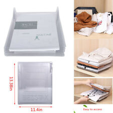 20Pcs T-Shirt Folding Board Folder Clothes Flip Stacking Ward Organizer Tool B12