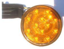 """2 1/2"""" Yellow 12 LED trailer clearance lights camper 12v volt stud mount w/ plug"""
