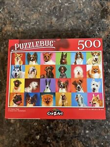 """500 Piece Jigsaw Puzzle """"Happy Dogs"""" by Cra-Z-Art   Free Shipping!"""