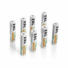 EBL 8 Pack 1500 Cycle 1100mAh AAA Ni-MH Rechargeable Batteries AAA Typical