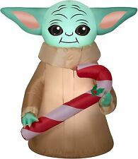 Star Wars Mandalorian The Child Baby Yoda Airblown Christmas Inflatable Gemmy