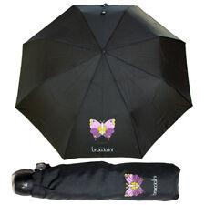 Braccialini Ombrello automatico Piccolo Borsa Nero 28 cm Antivento Farfalla