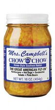 MRS. CAMPBELL'S CHOW CHOW *All Natural Sweet* (16oz) Qty x 2 Jars per Order