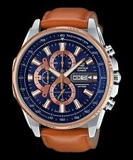 EFR-549L-2A Men's Watches Casio Edifice Chronograph 100m Brand-New Leather Band