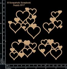 Scrapaholics Chipboard - Heart Clusters