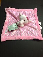 Carters Pink ELEPHANT LOVEY Baby Girl Infany Polkadot Security Blankey Crib