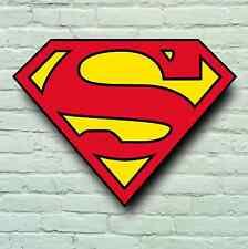 LARGE SUPERMAN LOGO PICTURE PLAQUE BAR PUB USA RETRO SIGN WALL ART SUPERHERO