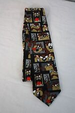 Looney Tunes Stamp Collection Tie with Taz