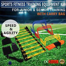 Multi Sports Soccer Fitness Speed Training Equipment Kit Set 2 Ladders Agility