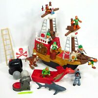 Imaginext Pirate Ship Great Adventures VTG 1997 Playset Lot